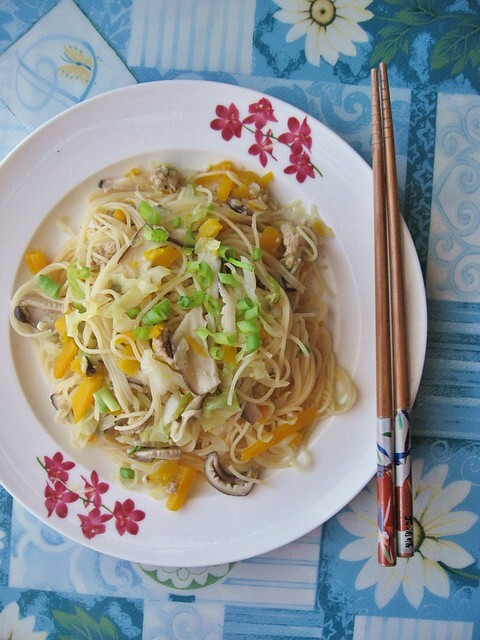 Pumpkin and Mushroom Rice Vermicelli Noodle 南瓜米粉