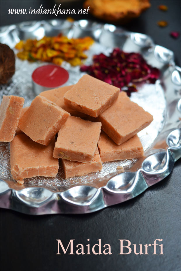 Maida Burfi | Maida Cake | Easy Diwali Sweets Recipes