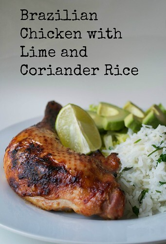 Brazilian Chicken Legs with Lime and Coriander Rice