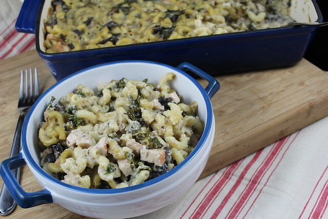 Smoked Chicken, Portobello & Kale Mac'n'Cheese