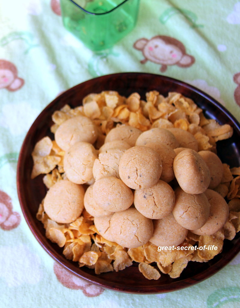 Cornflakes savoury cookies - Cookies recipe - Festive season recipe - Holiday recipe