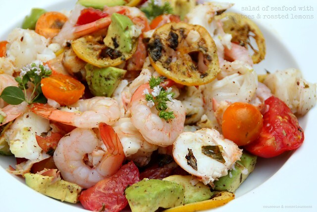 Salad of Seafood with Tomatoes & Roasted Lemons - Salad Days # 7