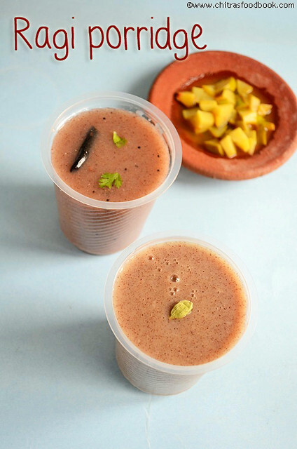 RAGI PORRIDGE(SWEET,SPICY VERSION)/RAGI KANJI-RAGI RECIPES