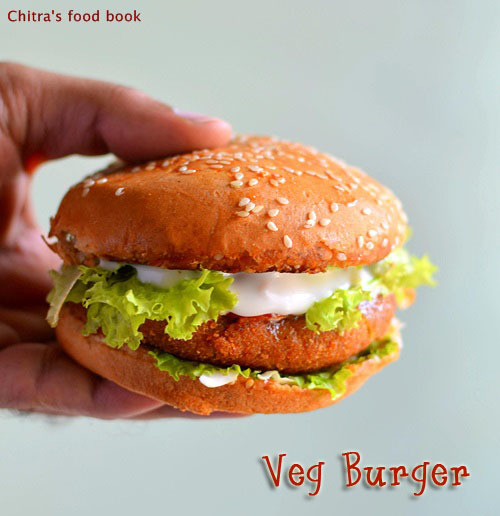 Veg Burger Recipe-Mc Donald's Style Burger Patty Recipe
