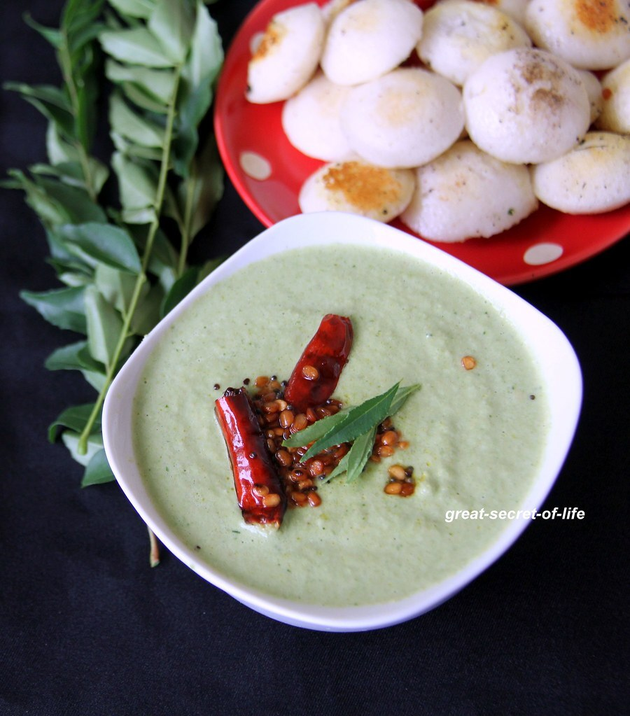 Coconut and curry leaves chutney - Simple dip recipe with curry leaves and coconut - side for idli, dosa, iddiyappam