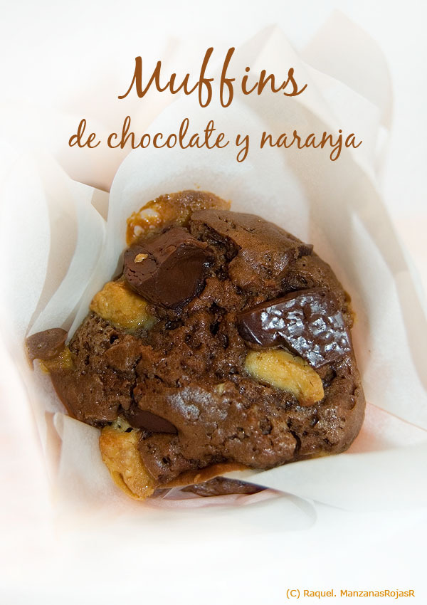 Dulces placeres: muffins de chocolate y naranja