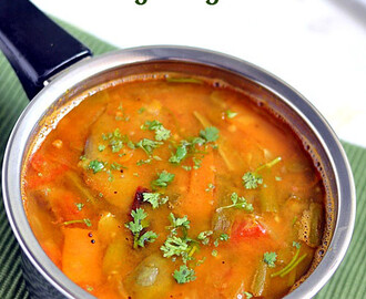 How to make brinjal sambar in tamil recipesmyTaste.in