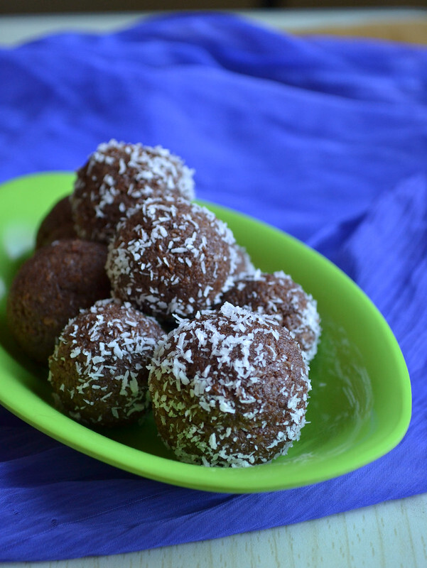 coconut chocolate ladoo - condensed milk recipes
