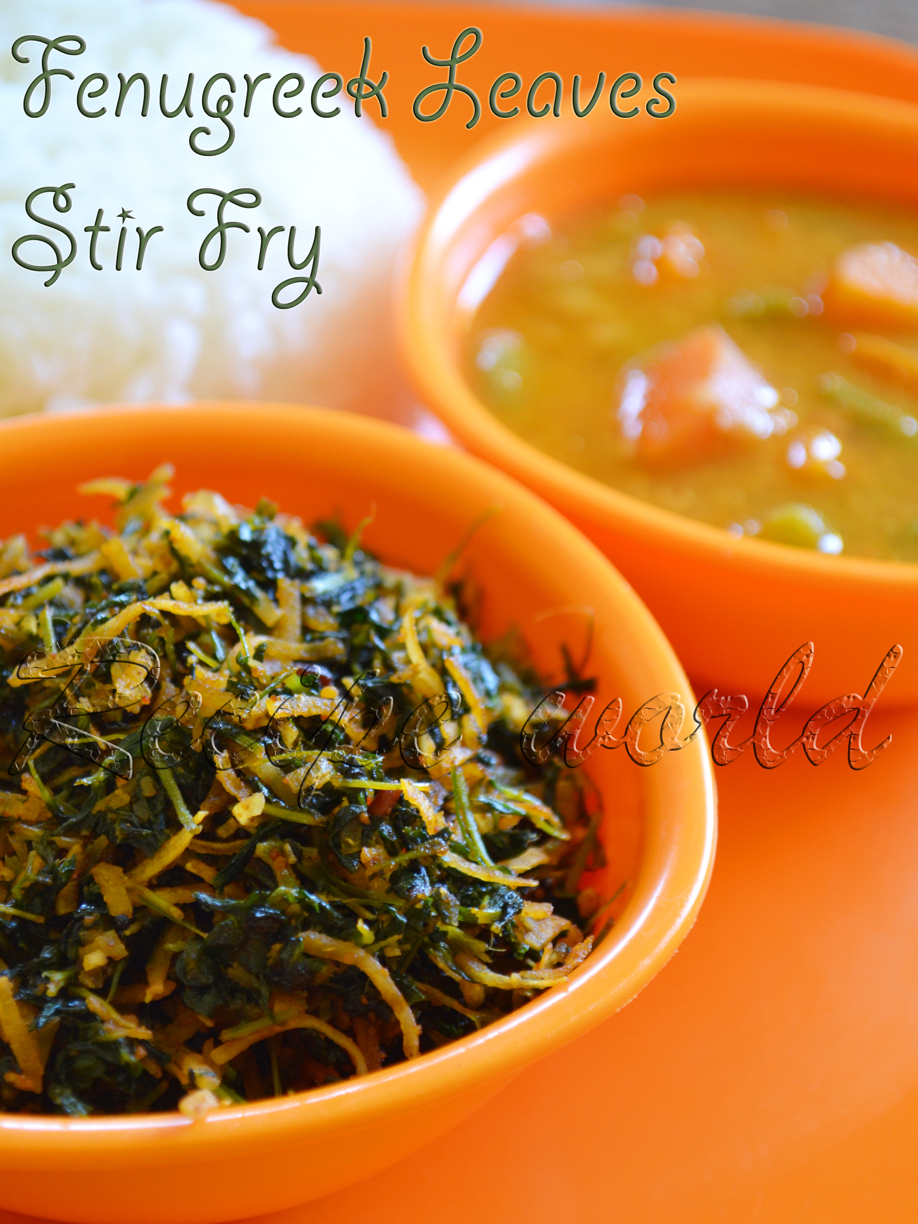 Fenugreek Leaves Stir Fry | Methi Leaves Stir Fry | Mentya Soppina Palya