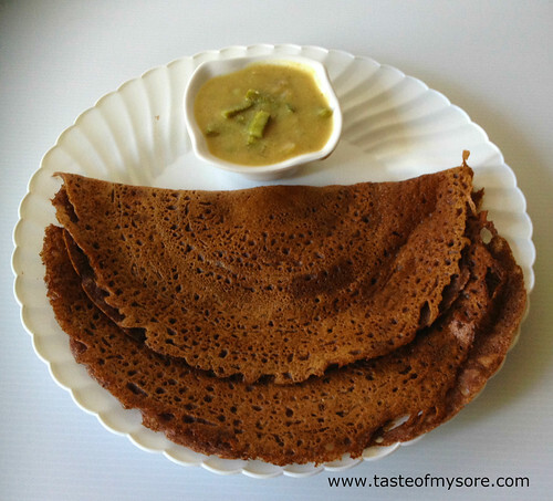 Ragi Dosa and Javalikayi Sagu ~ Combo Breakfast