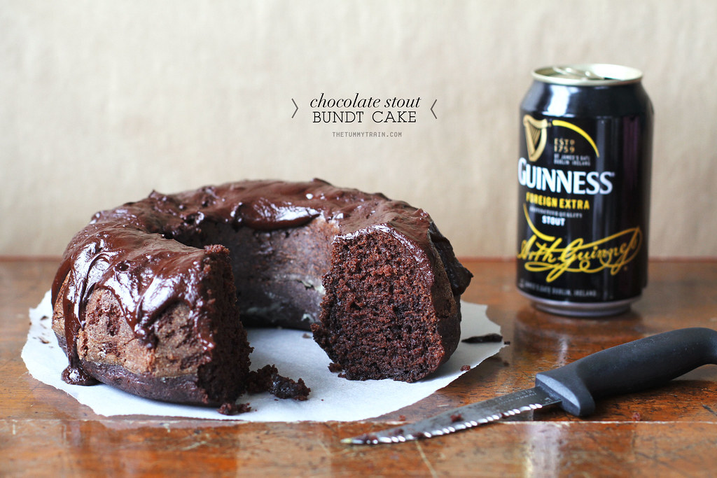 A simple chocolate and beer celebration cake