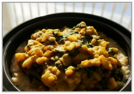 Matar Dal with Kale