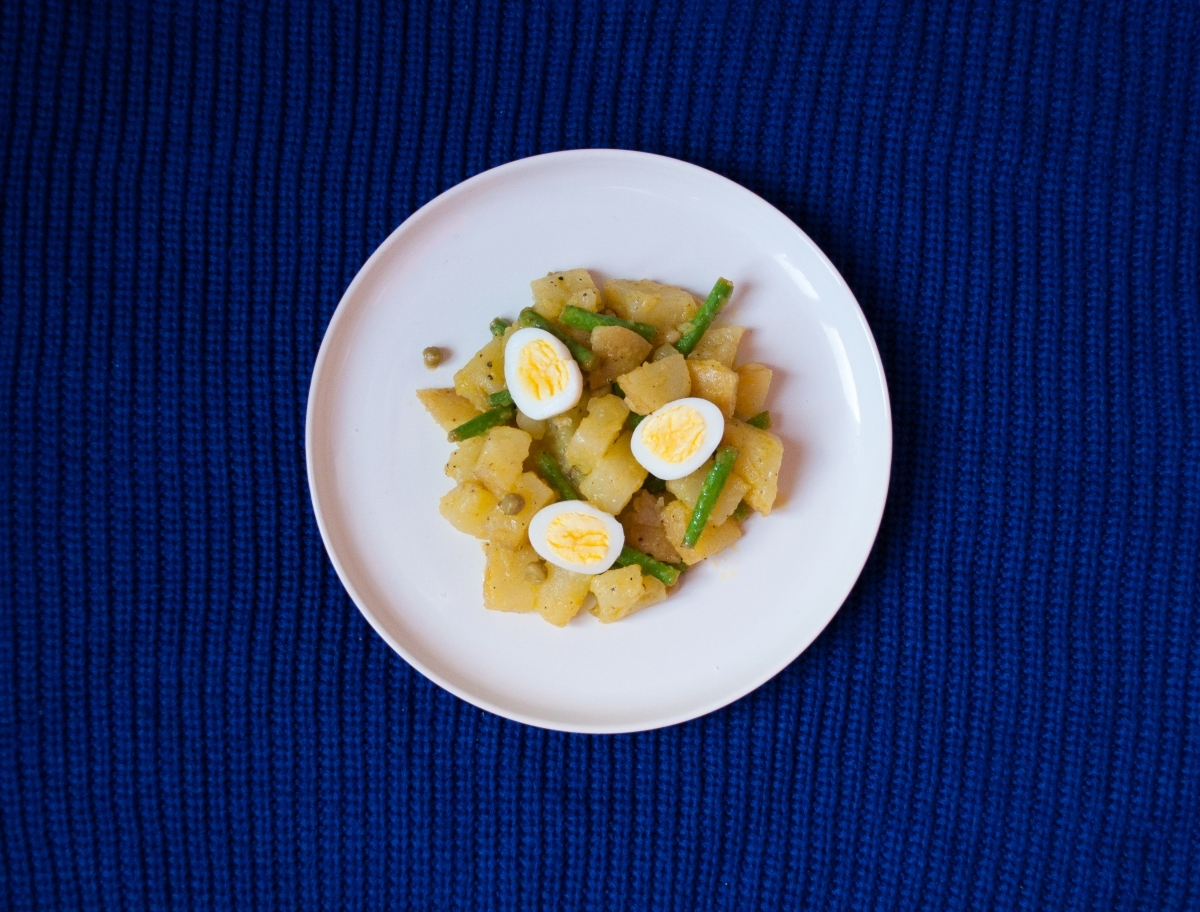 Quails Egg Potato Salad