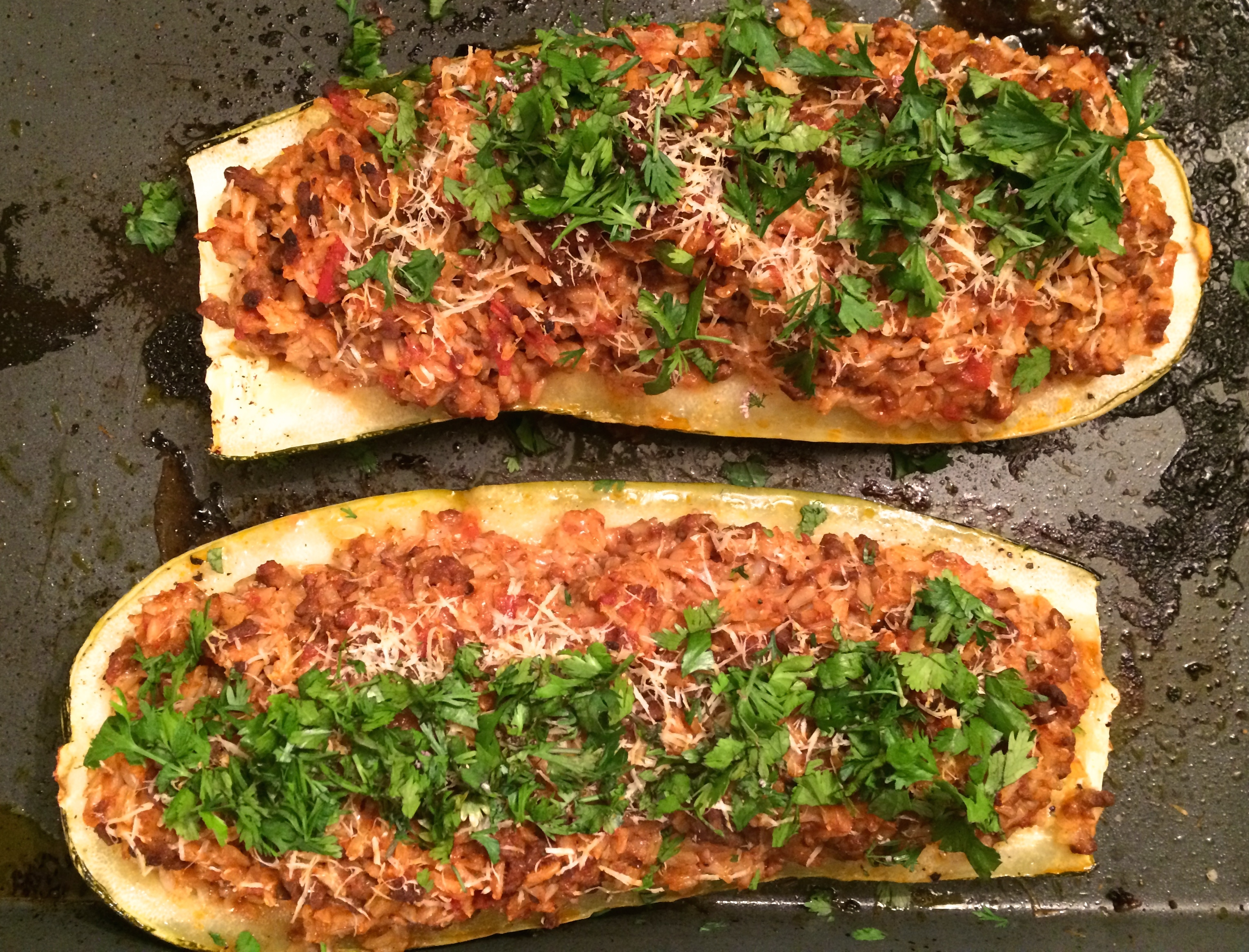 Satisfyingly Stuffed Marrow