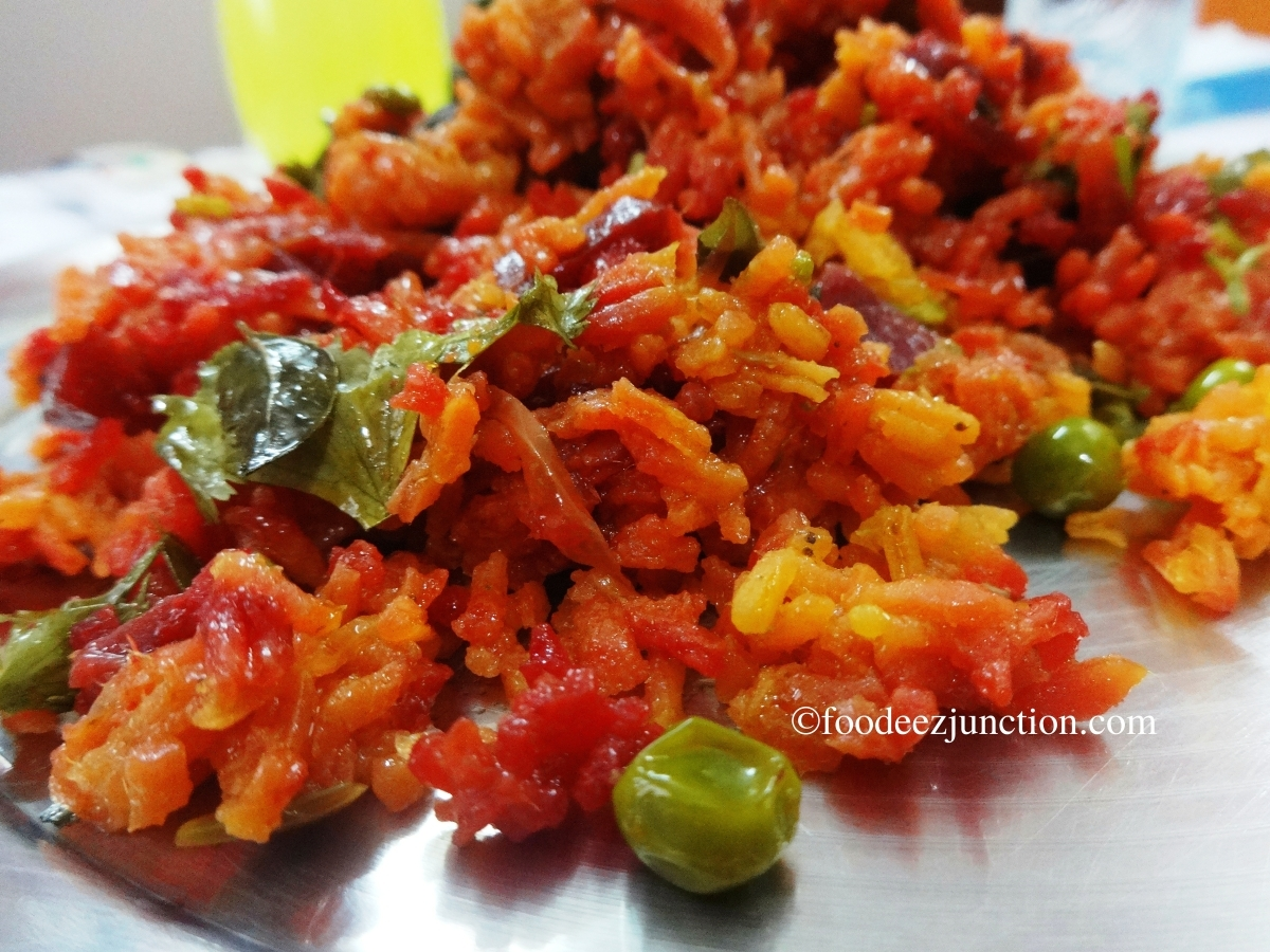 Veg Beetroot Biryani Recipe