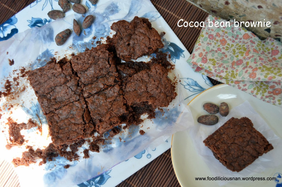 Whole wheat Cocoa bean brownies