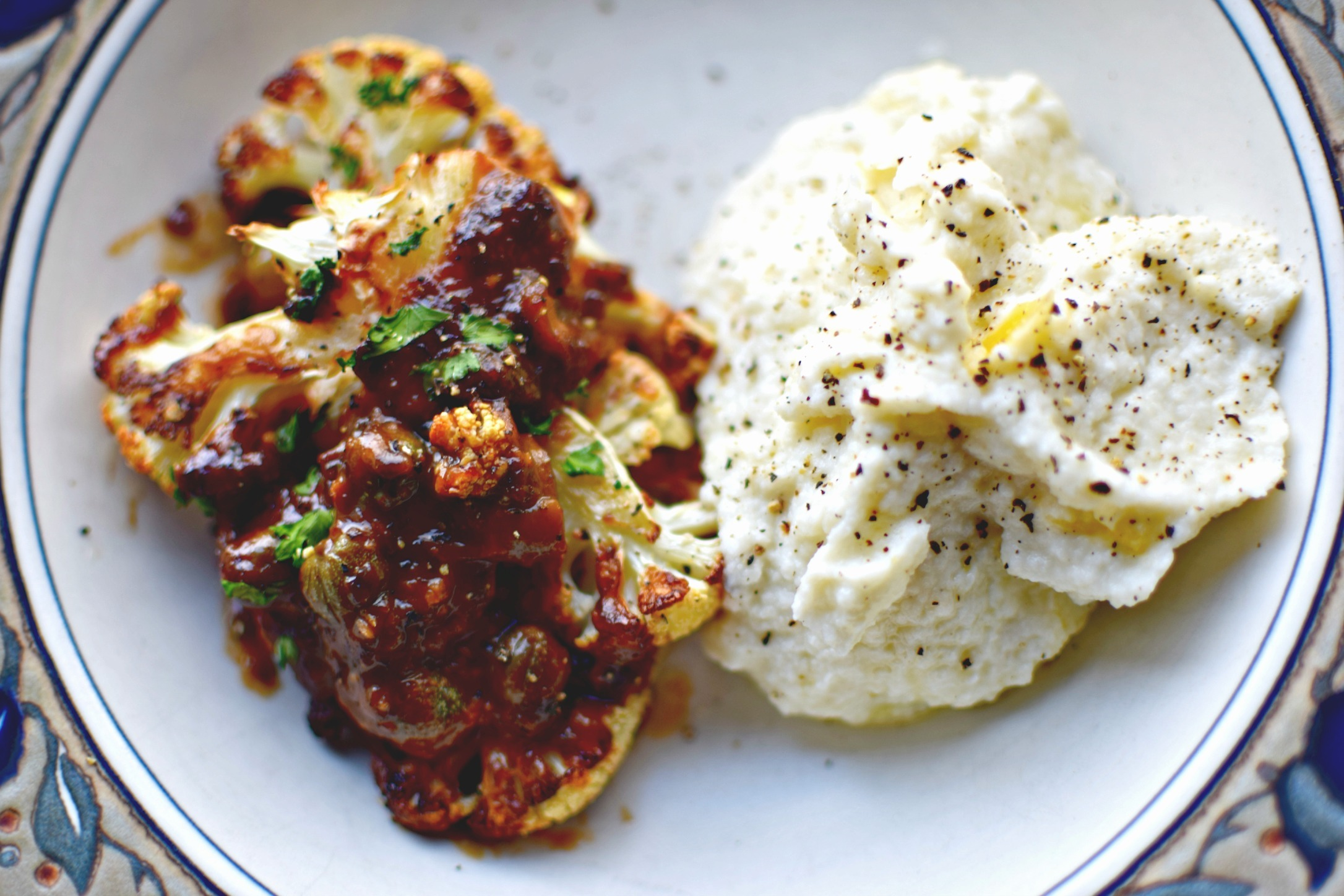 Roasted Cauliflower Marbella – a Mediterranean Sweet and Sour Recipe