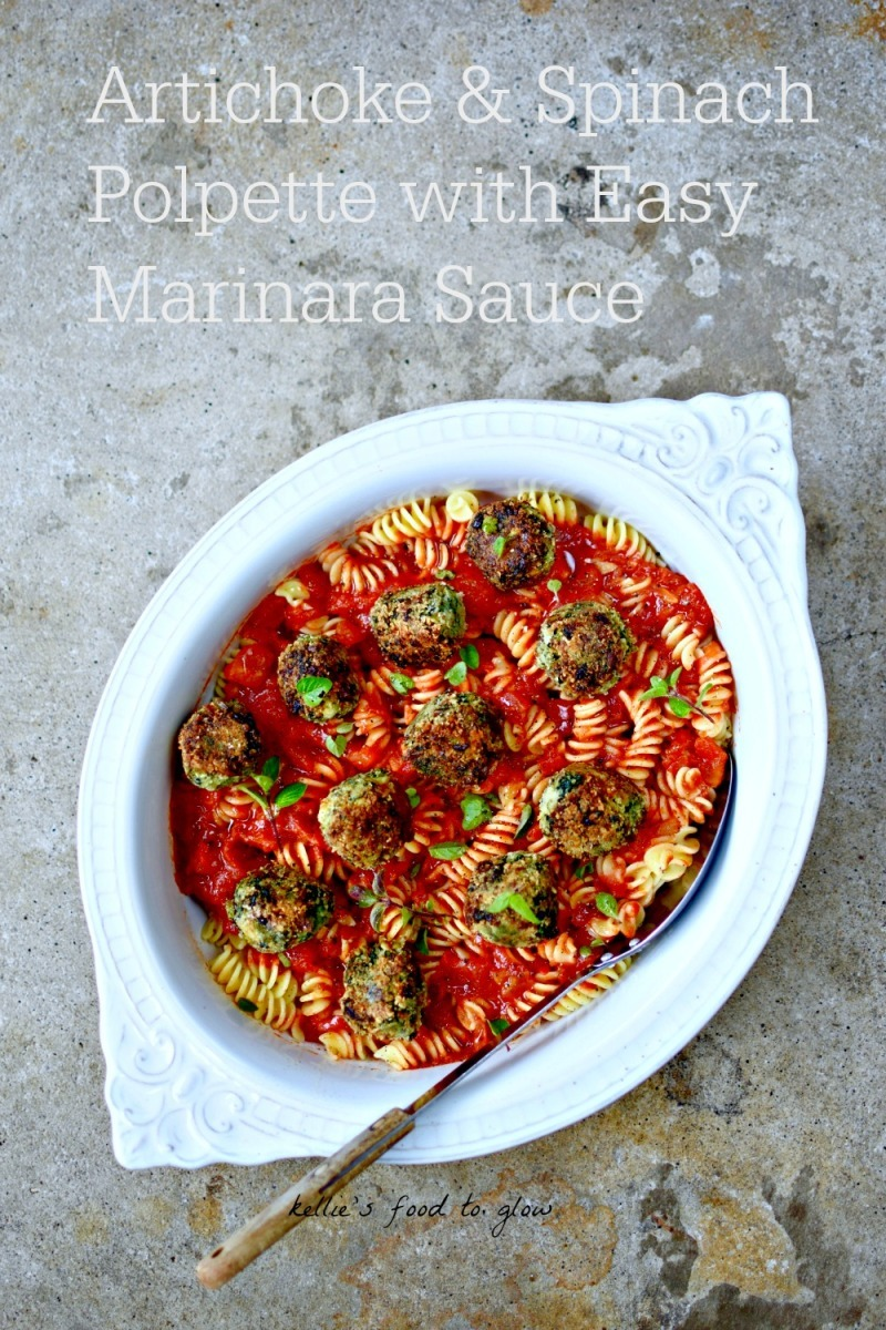 Artichoke & Spinach Polpette with Easy Marinara Sauce Recipe + Eating Venice