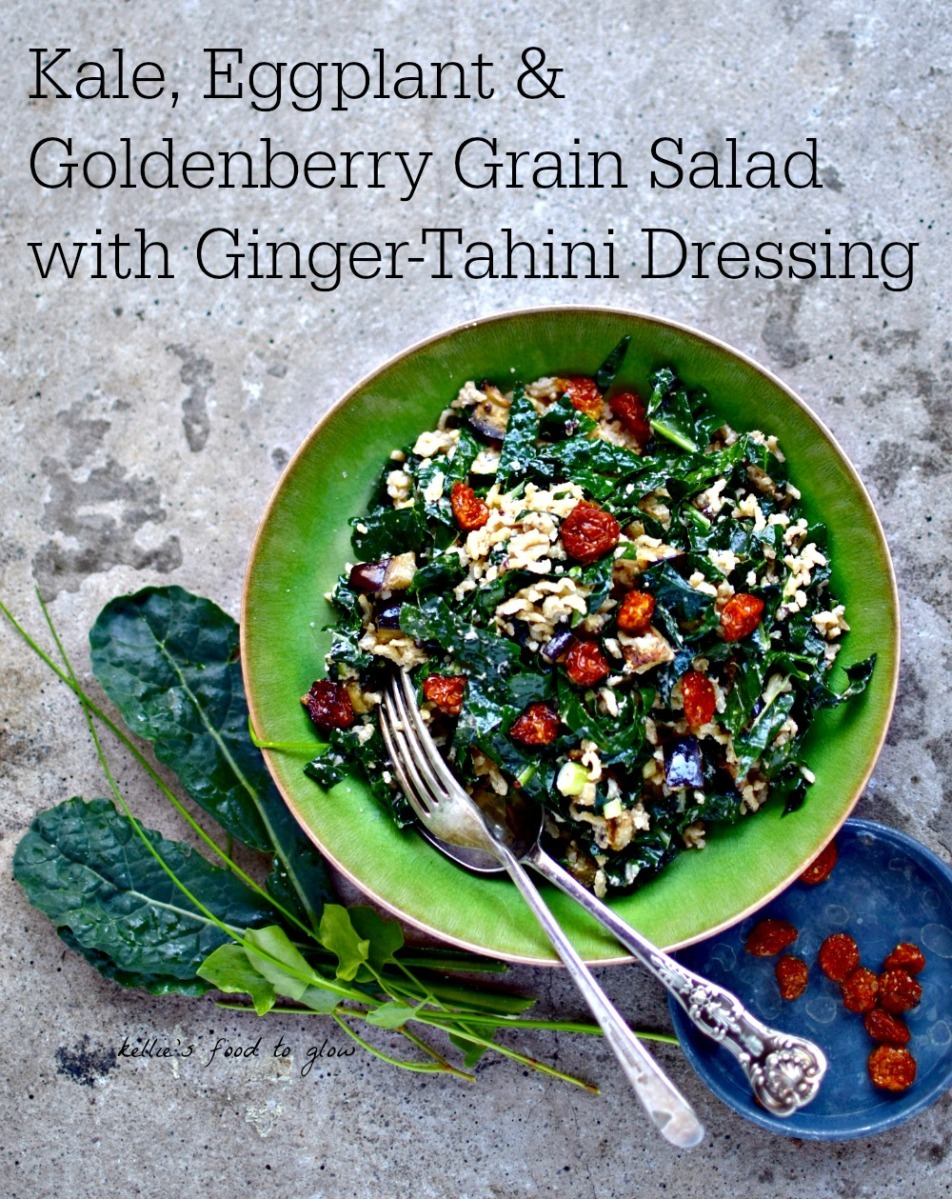 Kale, Eggplant and Golden Berry Grain Salad + The Best Job In The World