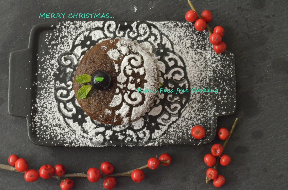 ALL SPICE CHRISTMAS CUP CAKES: EGGLESS & VEGAN