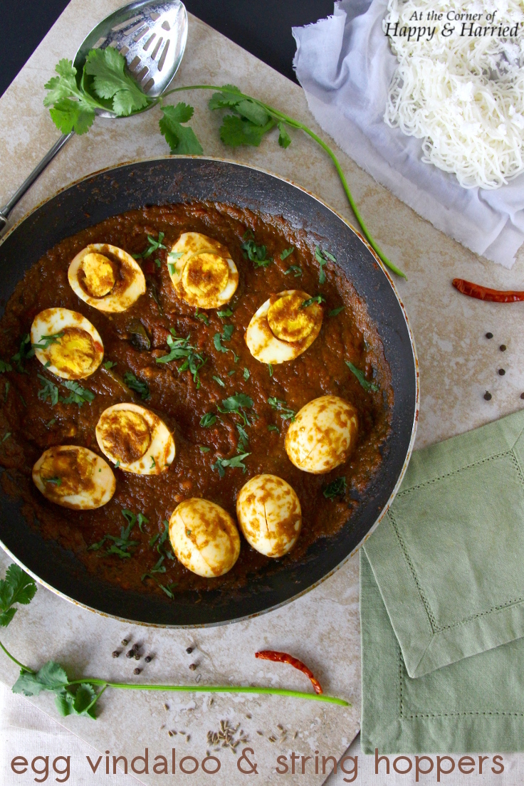 Egg Vindaloo And String Hoppers (Idiyappam)
