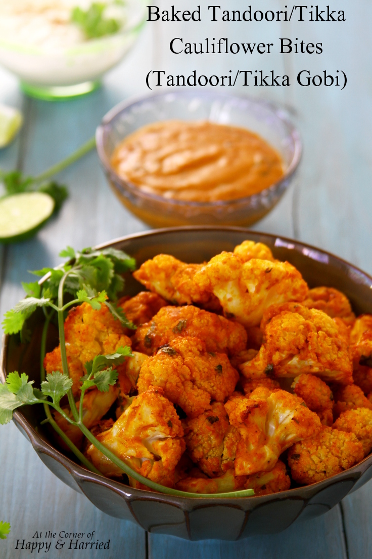 Baked Tandoori/Tikka Cauliflower Bites With A Spicy Yogurt Dip