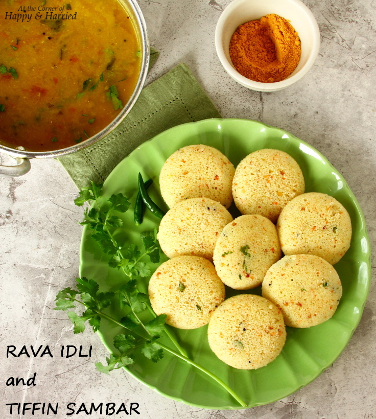 Great Indian Breakfast – Rava Idli And Tiffin Sambar