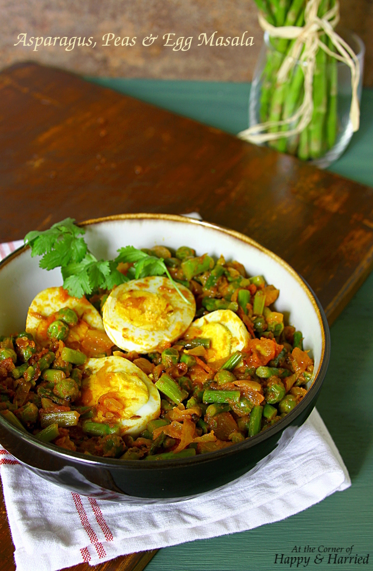 Asparagus, Peas And Egg Masala