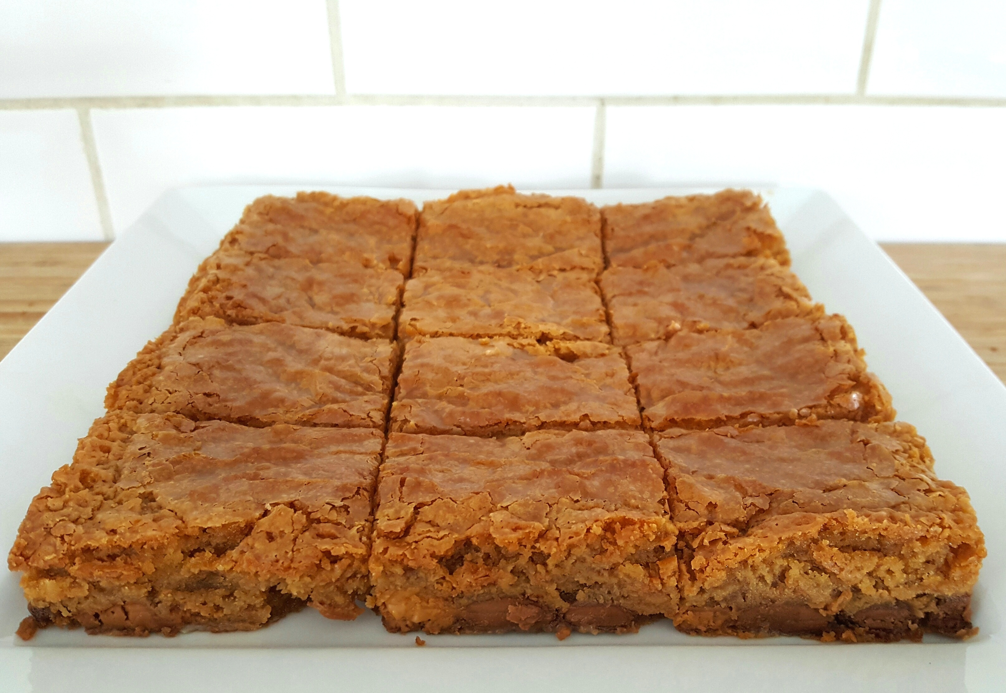 Caramelised White Chocolate Blondies