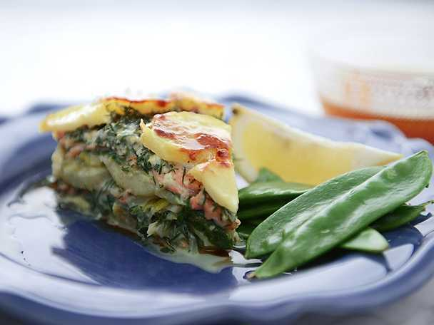 Laxpudding med gravad lax