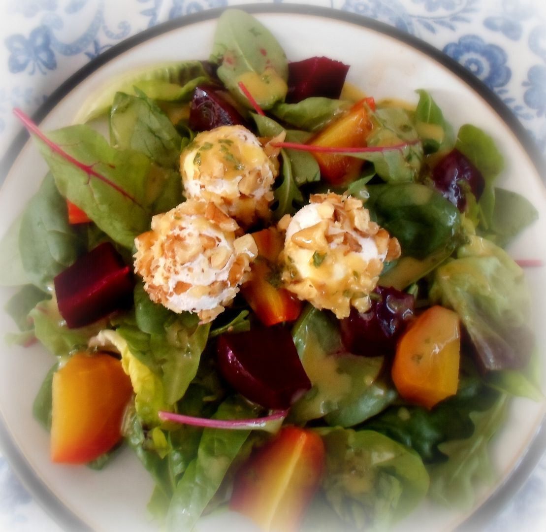 Beetroot & Goats Cheese Salad w/Orange Marmalade Vinaigrette