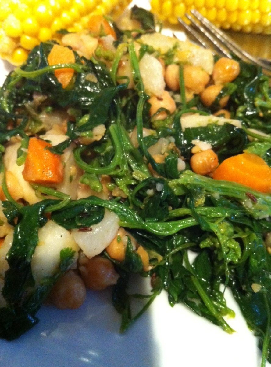 Ottolenghi's Chickpea Saute… with Fat Hen