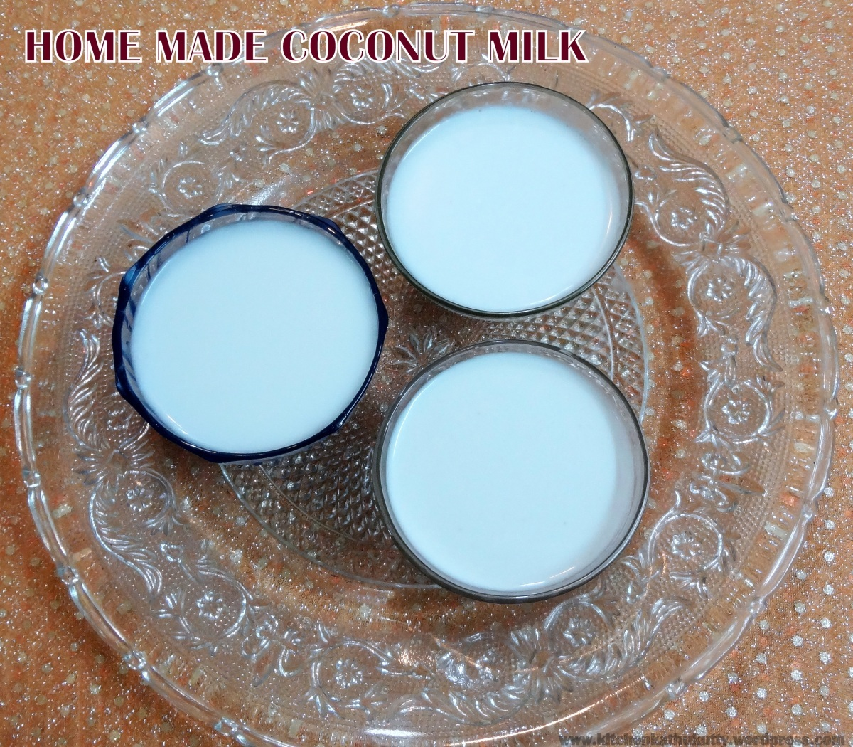 HOME MADE COCONUT MILK-How to make coconut milk?