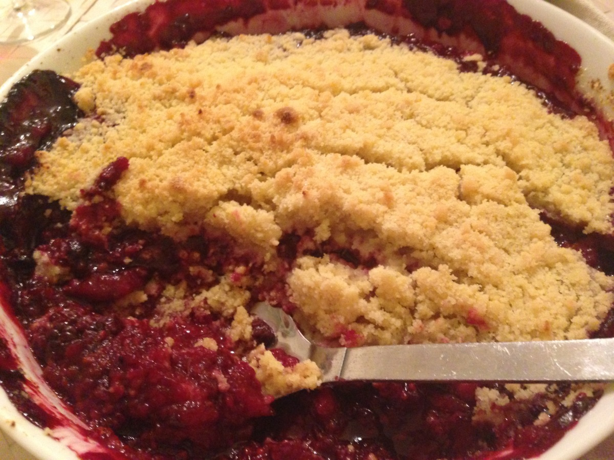 APPLE, BERRY AND ORANGE CRUMBLE