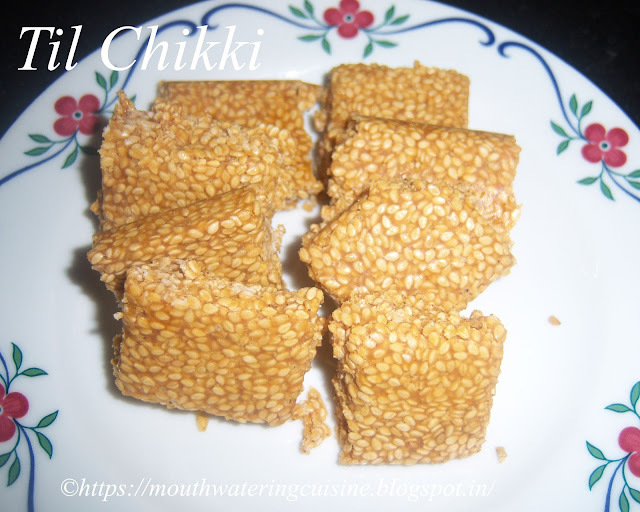 Til Chikki Recipe -- Sesame Crackers Recipe -- How to make Til Chikki Recipe