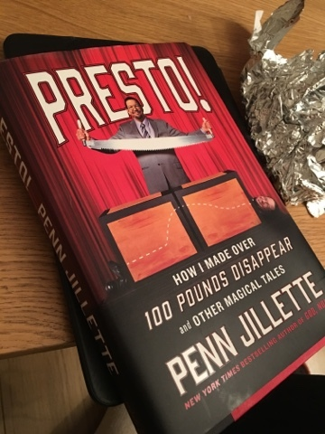 Presto! by @PennJillette the non diet book about weight loss, food and health (@NLi10)