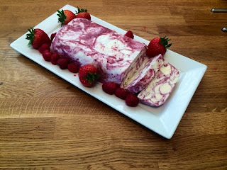 Summer Berry Ripple Ice Cream Loaf