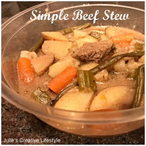 Simple Beef Stew in the Crock Pot