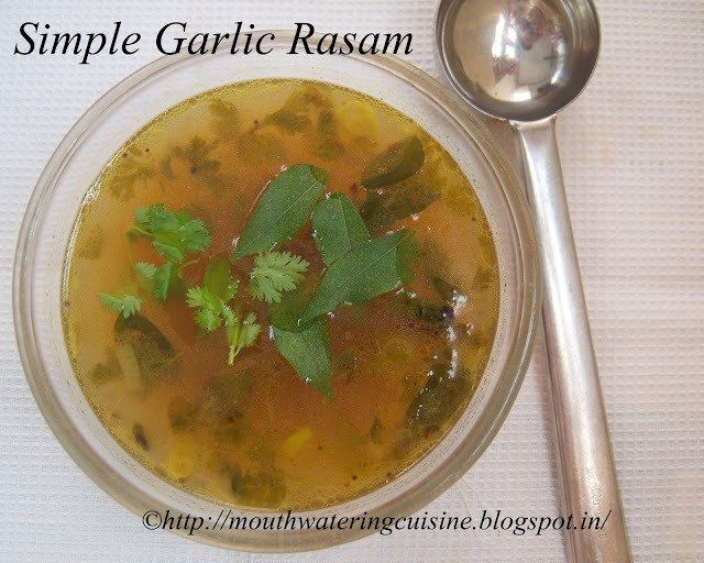 Simple Garlic Rasam Recipe -- How to make  Simple Garlic Rasam Recipe