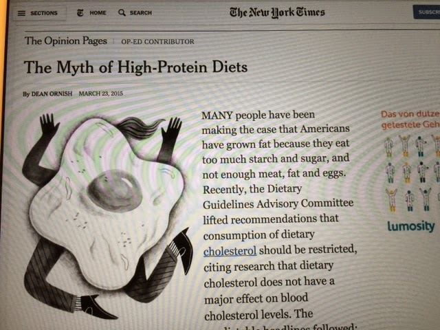 Nya tider, nya rön; The myth of High-Protein Diets, New York Times