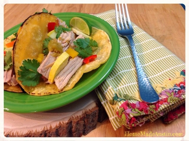 Slow Cooker Recipe: Green Chili Pulled Pork Loin Tacos with 505 Southwestern Sauces