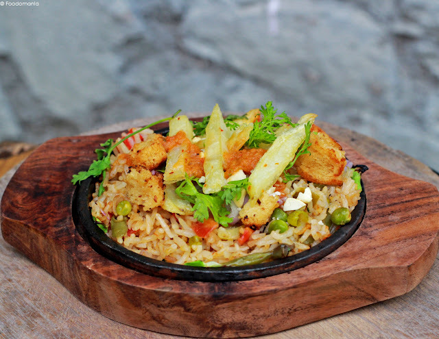 Brown Rice Pulao Sizzler