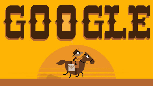 Google Doodle Celebrates Pony Express