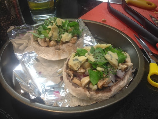 Rachael's Recipes - Blue Cheese Stuffed Mushrooms