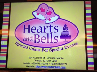 Hearts and Bells Special Cakes for Special Events, Binondo Manila