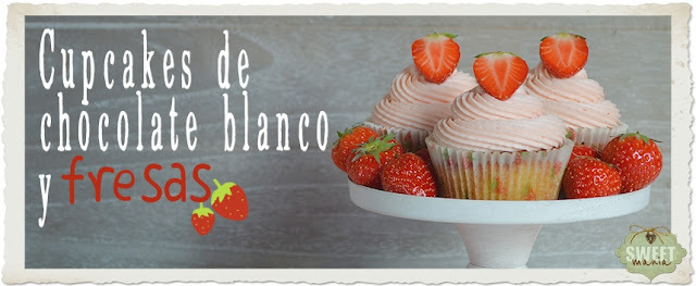 Cupcakes de chocolate blanco y buttercream de fresas