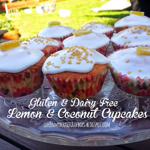 Recipe of the Week - Lemon & Coconut Cupcakes {gluten & dairy free}