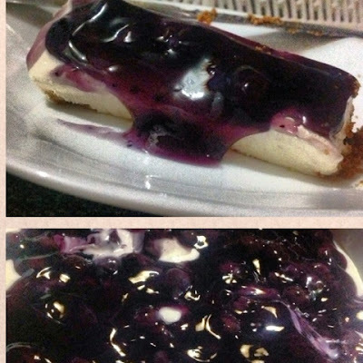 No bake blue berry cheesecake