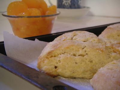 Orange vanilla scones.