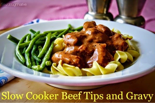 Slow Cooker Beef Tips and Gravy